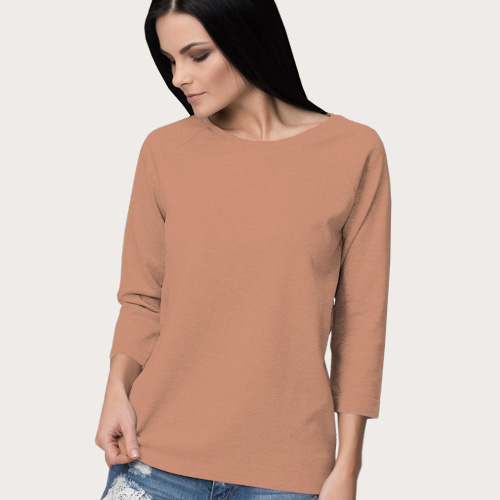 Women Round Neck Full SleevesLight Saffron image