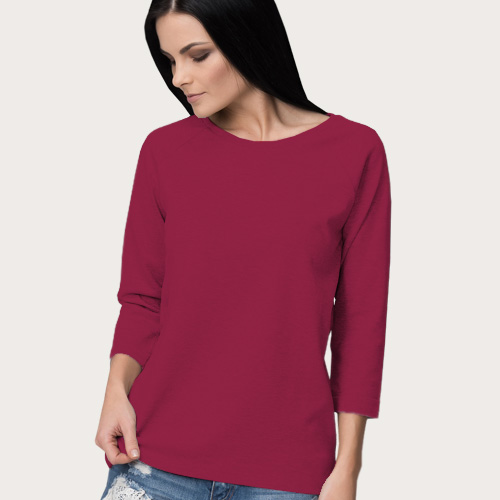 Women Round Neck Full Sleeves Pink image
