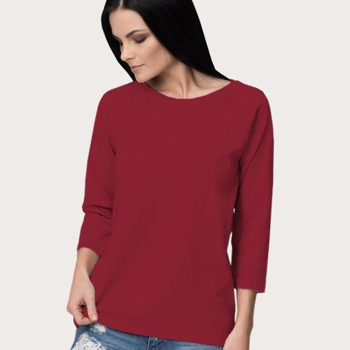 Women Round Neck Full Sleeves Radical Red image