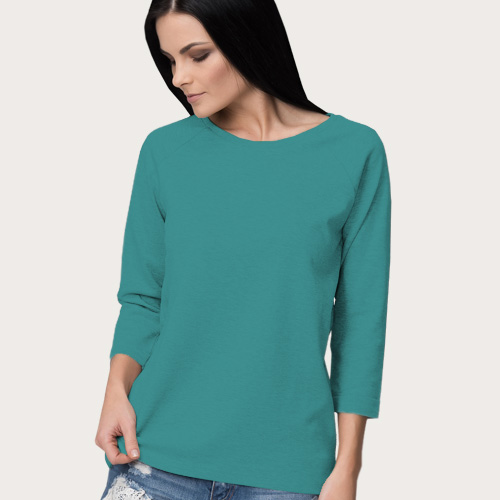 Women Round Neck Full Sleeves Sky Blue image
