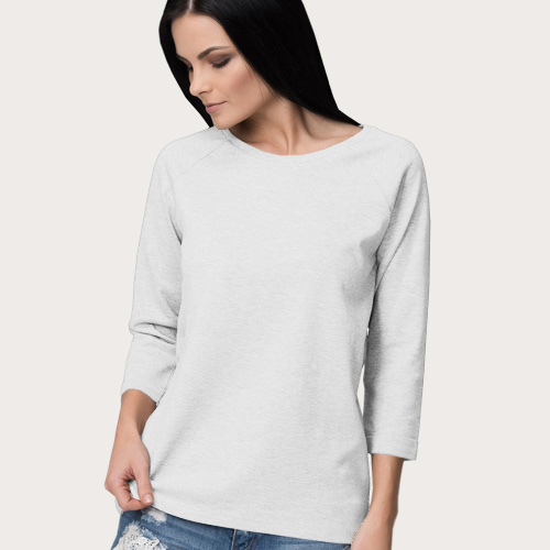 Women Round Neck Full Sleeves White image