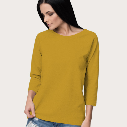 Women Round Neck Full Sleeves Yellow image