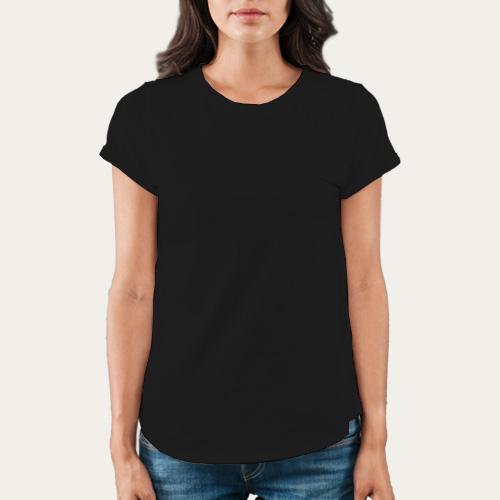 Women Round Neck Half Sleeves Black image