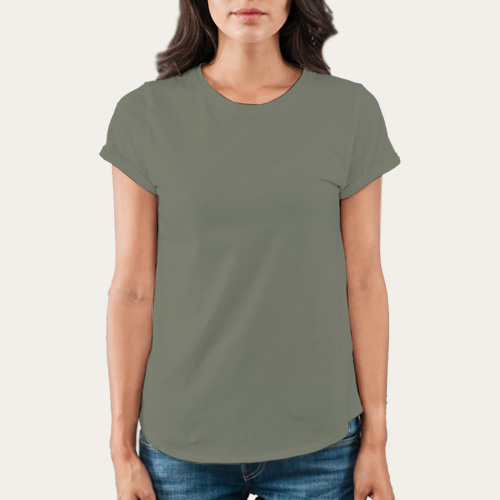 Women Round Neck Half Sleeves Dove Grey image