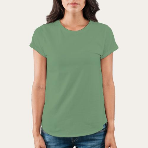 Women Round Neck Half Sleeves Green Apple image