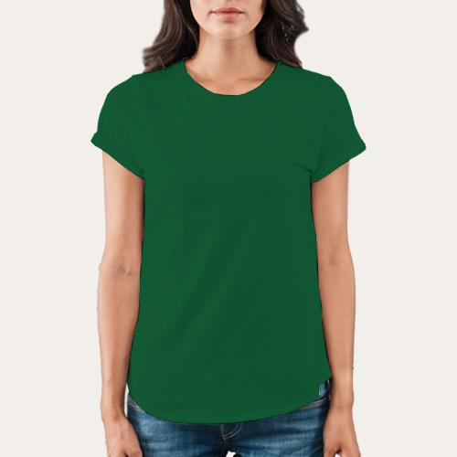 Women Round Neck Half Sleeves  Green image