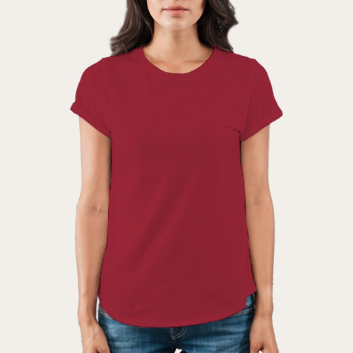 Women Round Neck Half Sleeves Radical Red image