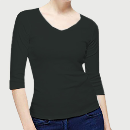 Women V Neck Full Sleeves Blackcurrent image