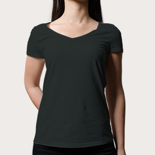Women V Neck Half Sleeves Blackcurrent image